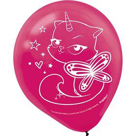 Rainbow Butterfly Unicorn Kitty Latex Balloons (6)