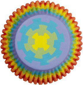 Rainbow Cupcake Baking Cups (36 Pack)