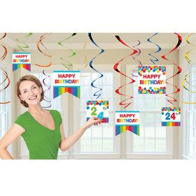 Rainbow Customizable Foil Swirl Decoration Kit