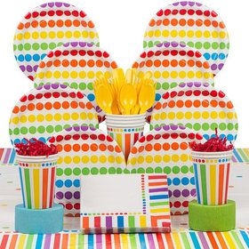 Rainbow Deluxe Tableware Kit Serves 8