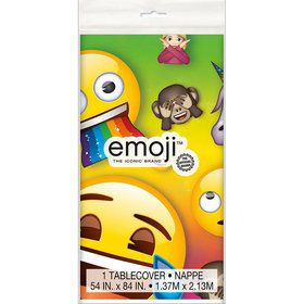 Rainbow Fun Emoji Table Cover (1)