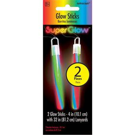 Rainbow Glow Stick Necklace (2 Count)