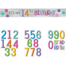 Rainbow Happy Birthday Add-Any-Age Sash (Each)