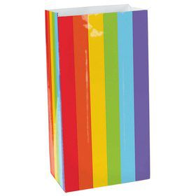 Rainbow Paper Favor Bags (12 Pack)