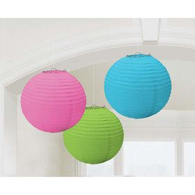 Rainbow Paper Lantern Decorations (3 Count)