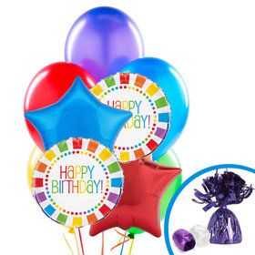 Rainbow Party Balloon Bouquet