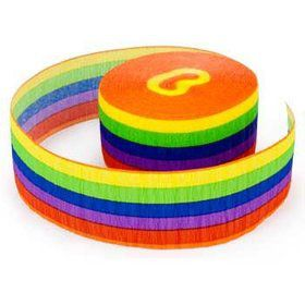 Rainbow Party Streamer (each)