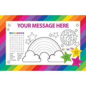 Rainbow Personalized Activity Mat (8 Count)