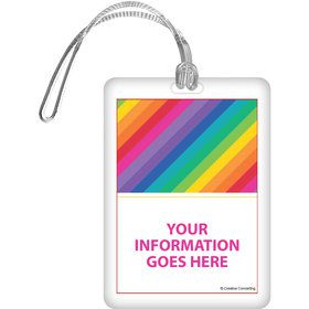 Rainbow Personalized Bag Tag (Each)