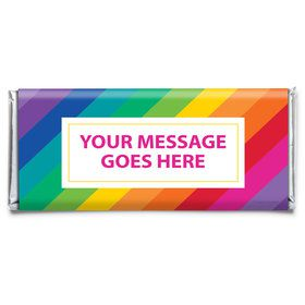 Rainbow Personalized Candy Bar Wrapper (Each)