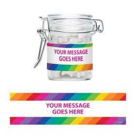 Rainbow Personalized Glass Apothecary Jars (10 Count)