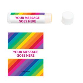 Rainbow Personalized Lip Balm (12 Pack)