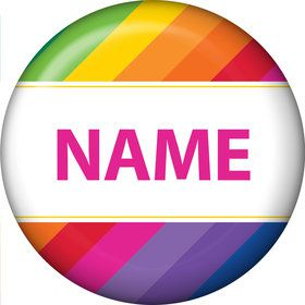 Rainbow Personalized Mini Button (Each)