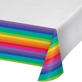 Rainbow Plastic Tablecover (1)