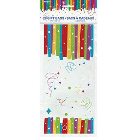 "Rainbow Ribbons Birthday Cello Bag 5""X11"" (20)"