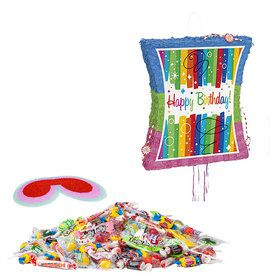 Rainbow Ribbons Birthday Pinata Kit
