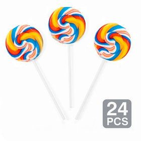 "Rainbow Swirl 2"" Lollipops (24 Pack)"
