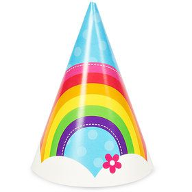 Rainbow Wishes Cone Hats