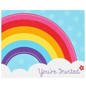 Rainbow Wishes Invitations