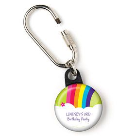 """Rainbow Wishes Personalized 1"""" Carabiner (Each)"""