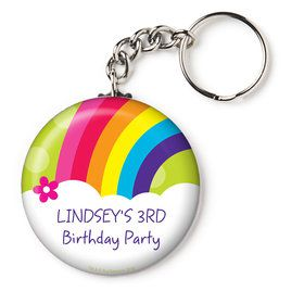 "Rainbow Wishes Personalized 2.25"" Key Chain (Each)"