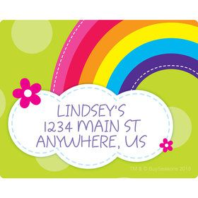 Rainbow Wishes Personalized Address Labels (Sheet of 15)