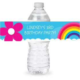 Rainbow Wishes Personalized Bottle Label (Sheet of 4)