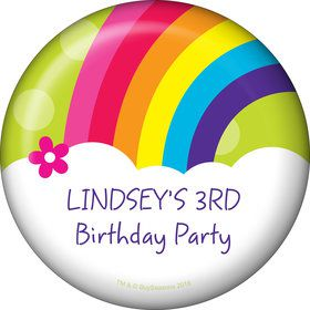 Rainbow Wishes Personalized Button (Each)
