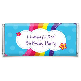 Rainbow Wishes Personalized Candy Bar Wrapper (Each)