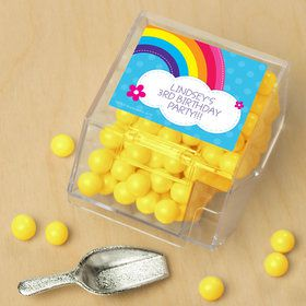 Rainbow Wishes Personalized Candy Bin with Candy Scoop (10 Count)