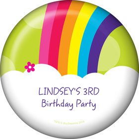 Rainbow Wishes Personalized Mini Button (Each)