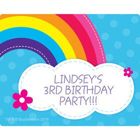 Rainbow Wishes Personalized Rectangular Stickers (Sheet of 15)
