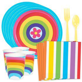 Rainbow Wishes Standard Tableware Kit (Serves 8)