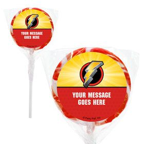 "Ranger Heroes Personalized 2"" Lollipops (20 Pack)"