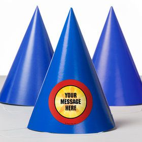 Ranger Heroes Personalized Party Hats (8 Count)