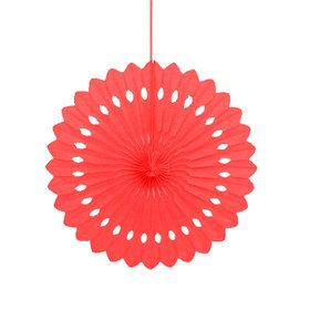 "Red 16"" Decorative Fan Decoration (Each)"