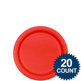 "Red 7"" Paper Plates, 20 ct."