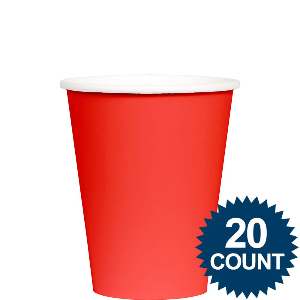 Red 9 Oz. Paper Cups, 20 Ct. BB100260