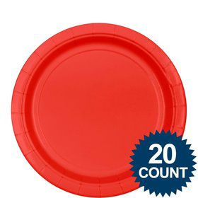 "Red 9"" Paper Plates, 20ct"