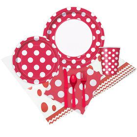 Red and White Dots Party Pack