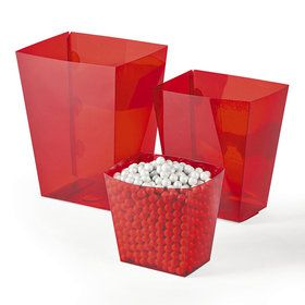 Red Candy Buffet Containers (6 Count)