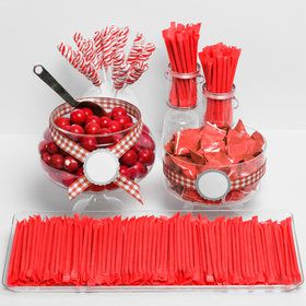 Red Candy Packaged Assortment - Candy Buffet Kit