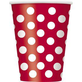 Red Dots 12oz Cups (6 Pack)