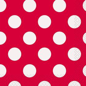Red Dots Beverage Napkins (16 Count)