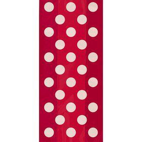 Red Dots Cello Favor Bags (20 Pack)