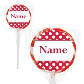 "Red Dots Personalized 2"" Lollipops (20 Pack)"