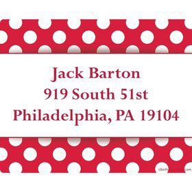 Red Dots Personalized Address Labels (Sheet Of 15)