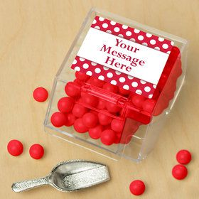 Red Dots Personalized Candy Bin with Candy Scoop (10 Count)