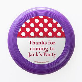 Red Dots Personalized Mini Discs (Set Of 12)