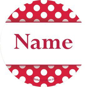 Red Dots Personalized Mini Stickers (Sheet of 20)
